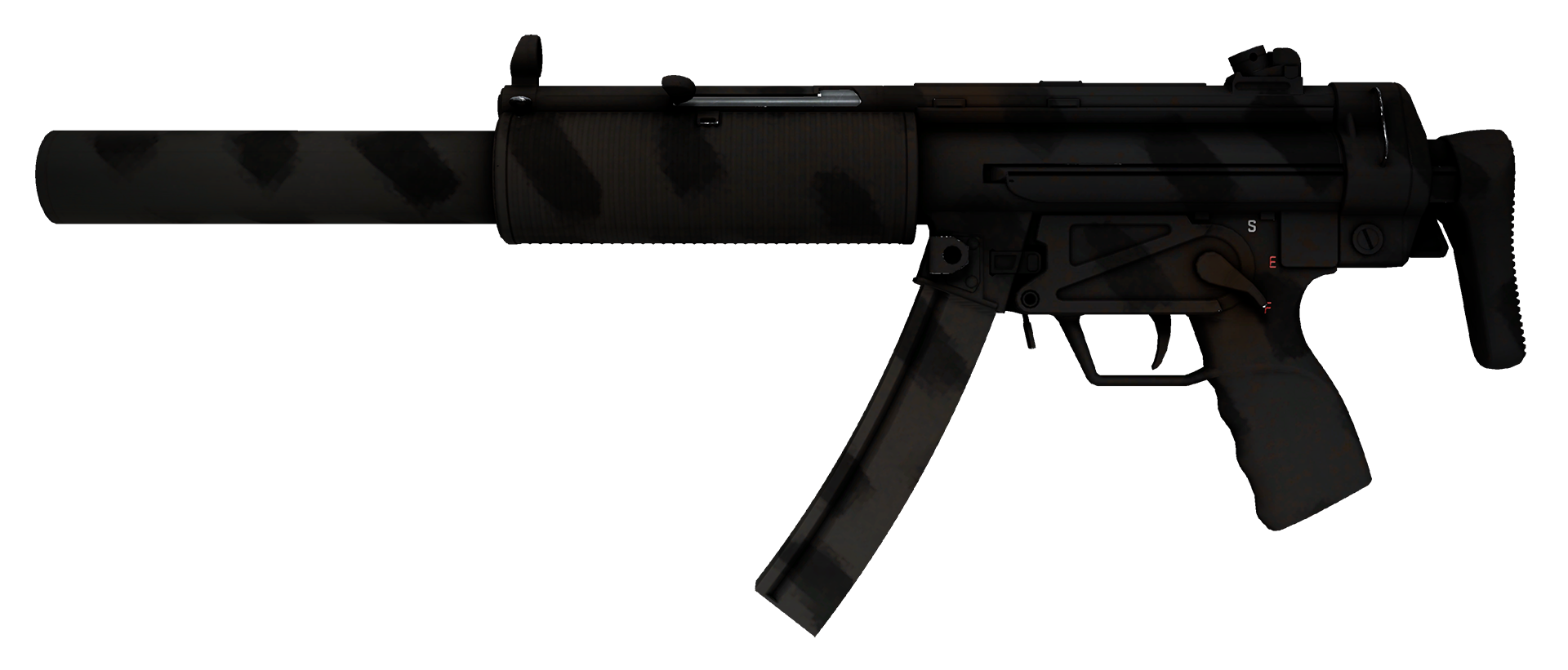 MP5-SD Dirt Drop Large Rendering