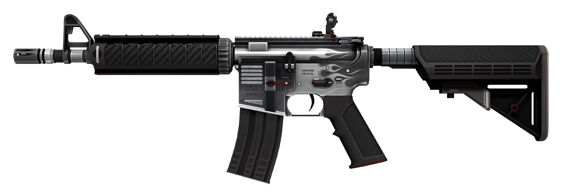 M4A4 Magnesium Large Rendering