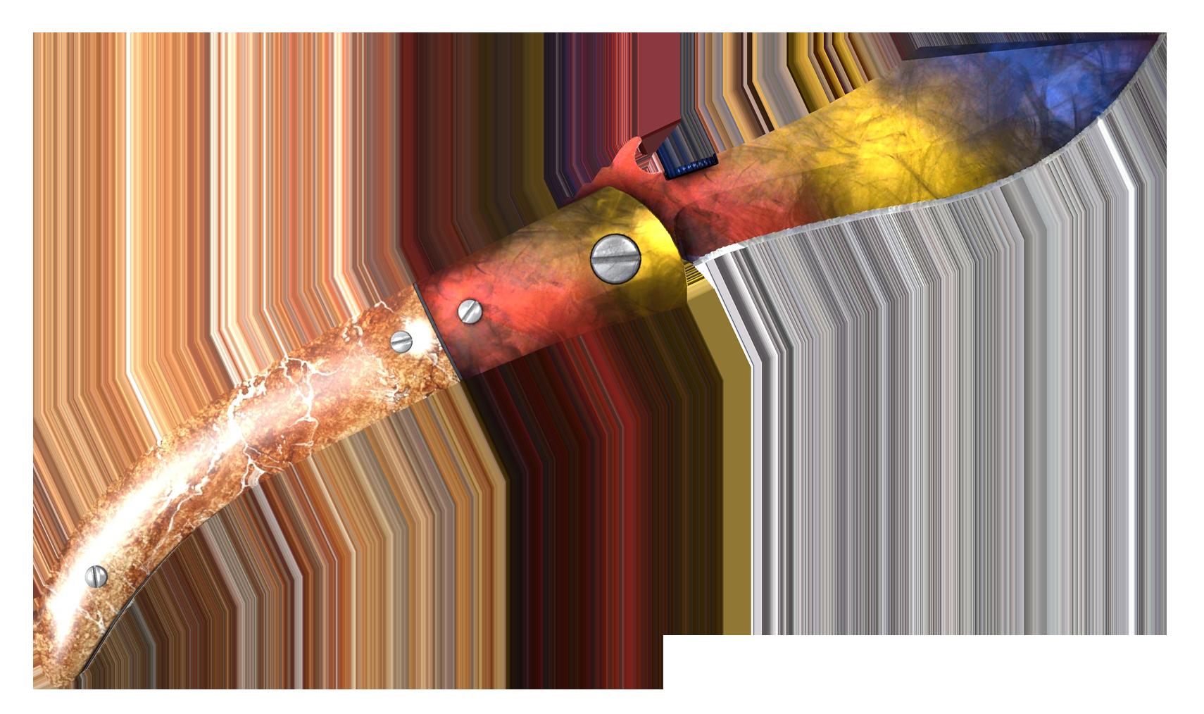 Navaja Knife Marble Fade Large Rendering
