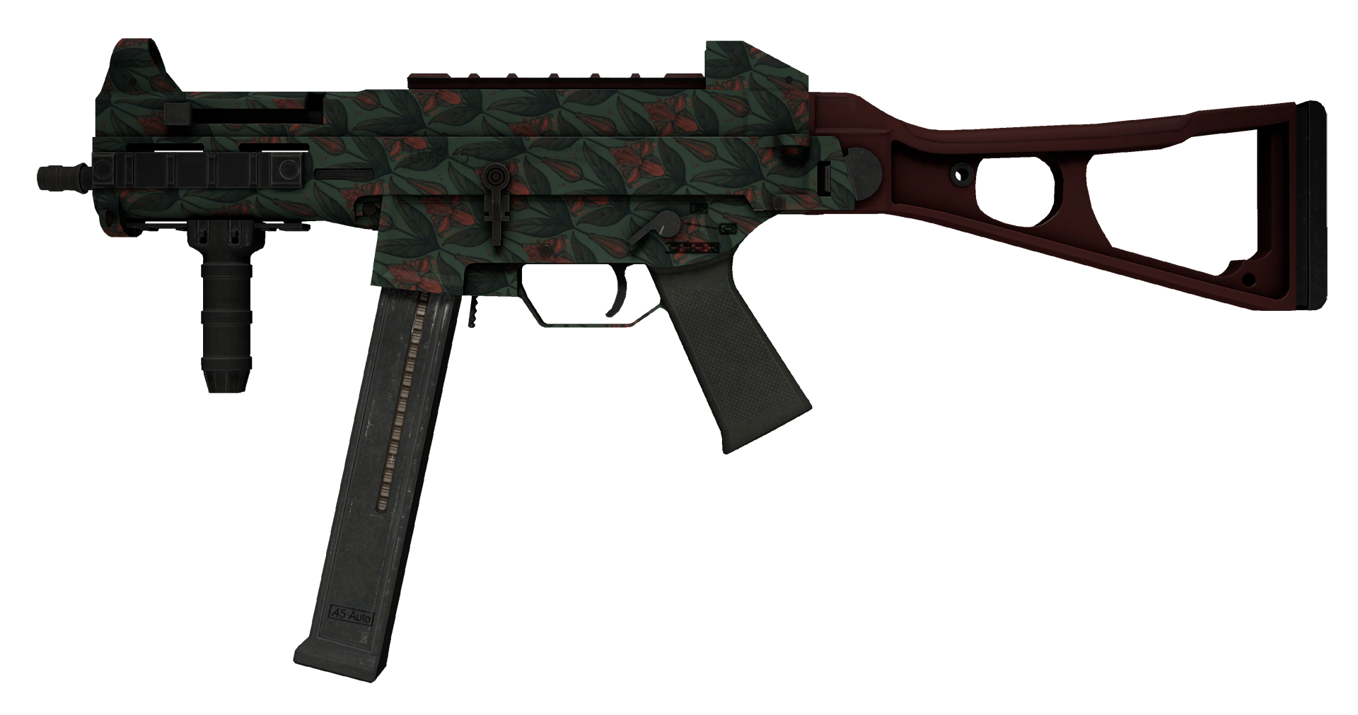 UMP-45 Day Lily Large Rendering