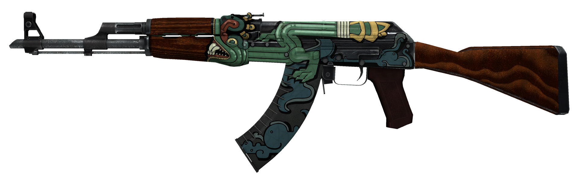 AK-47 Fire Serpent Large Rendering