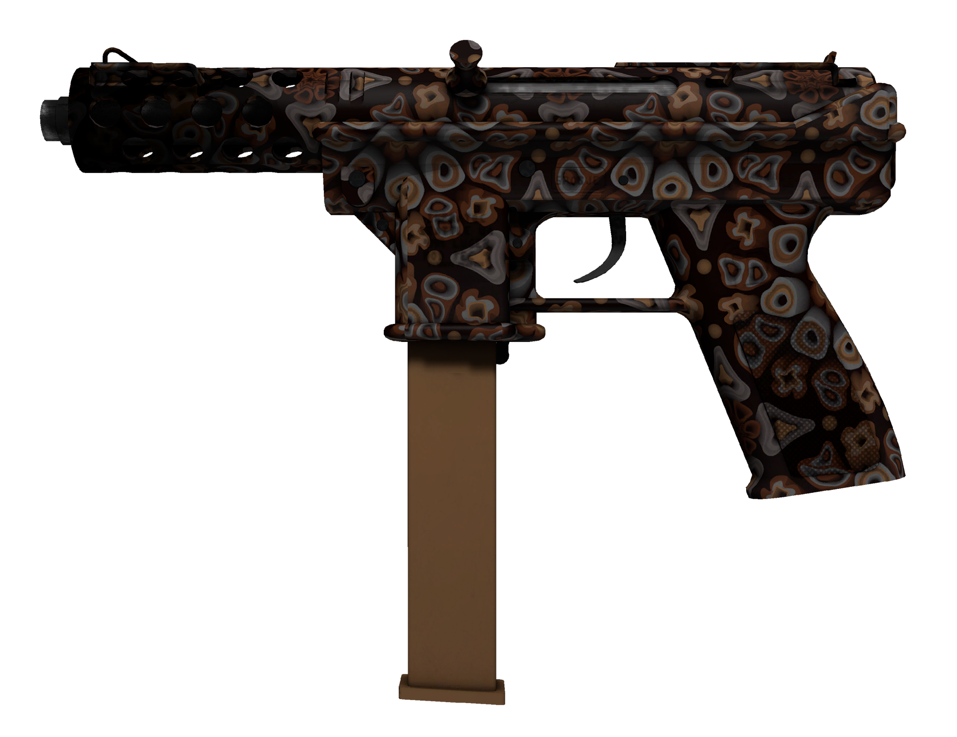 Tec-9 Orange Murano Large Rendering