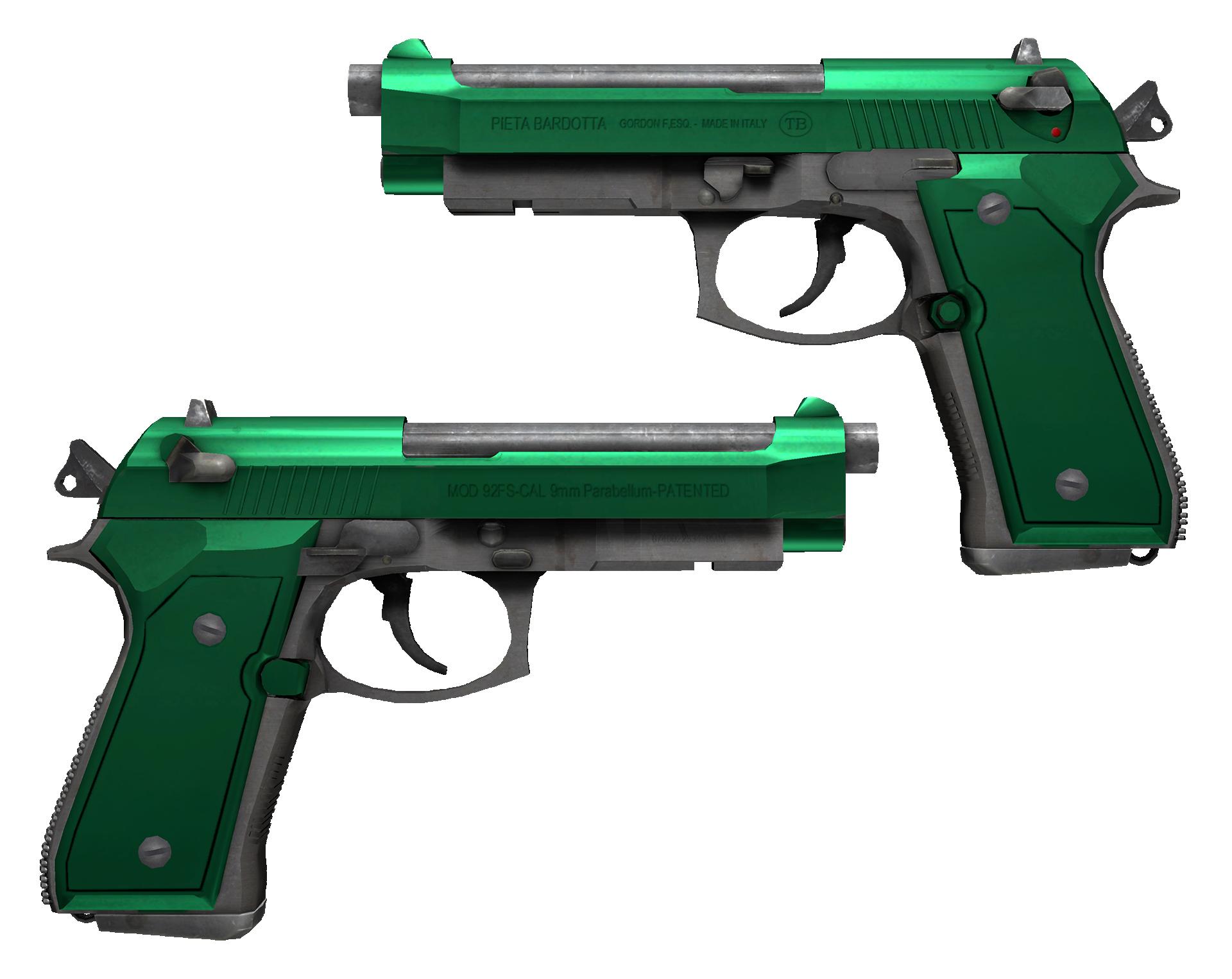 Dual Berettas Emerald Large Rendering