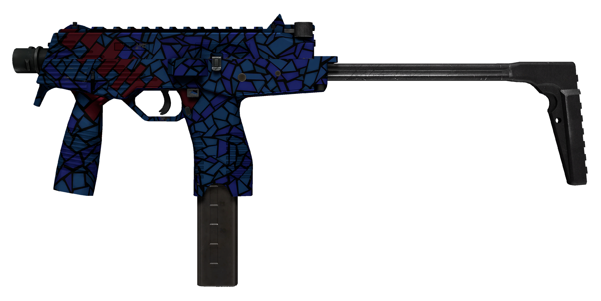 MP9 Stained Glass Large Rendering