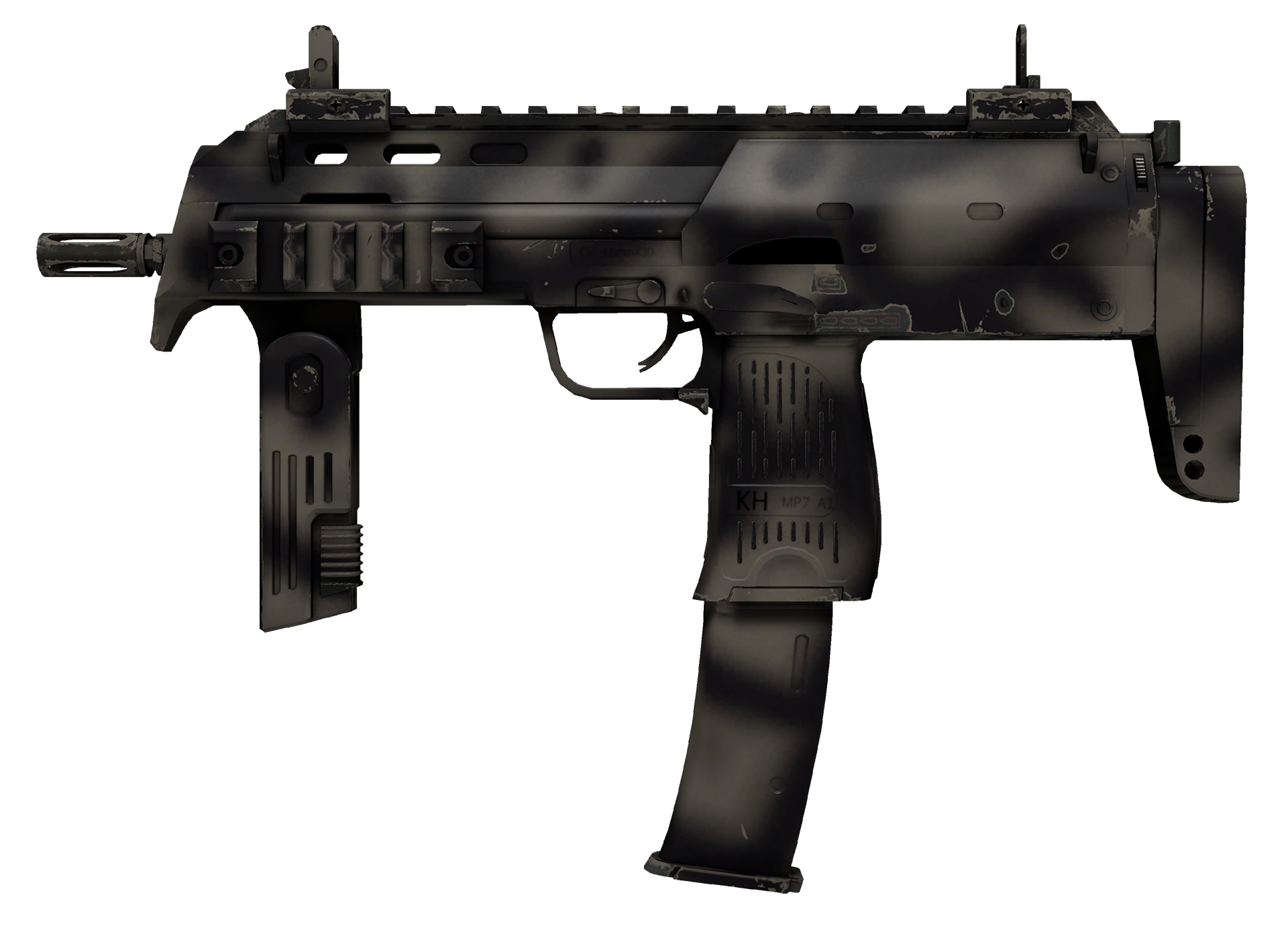MP7 Scorched Large Rendering