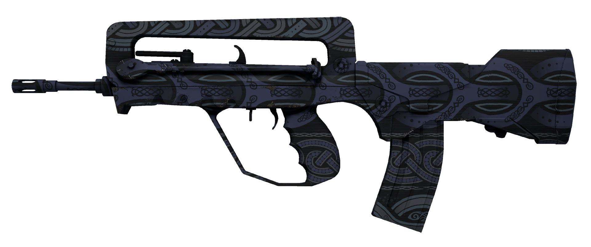 FAMAS Night Borre Large Rendering