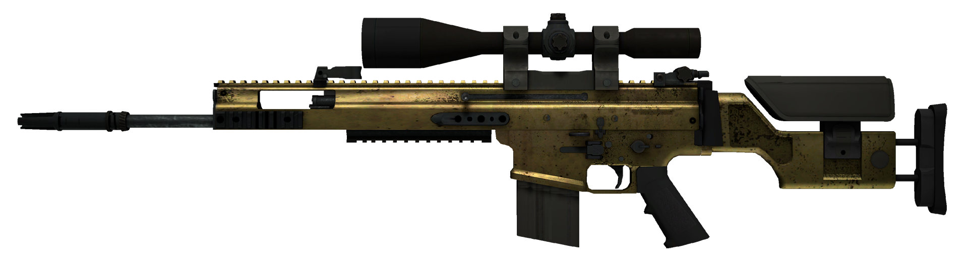 SCAR-20 Brass Large Rendering