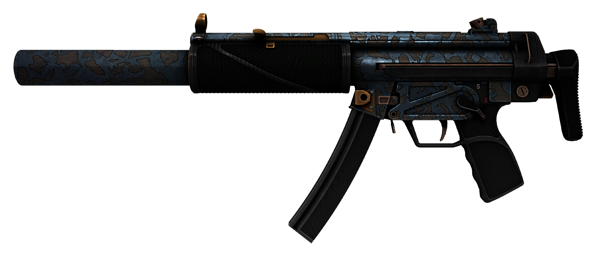 MP5-SD Acid Wash Large Rendering