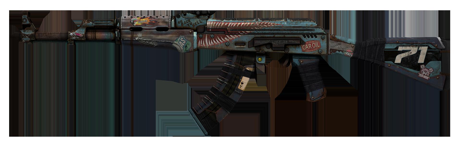AK-47 Rat Rod Large Rendering