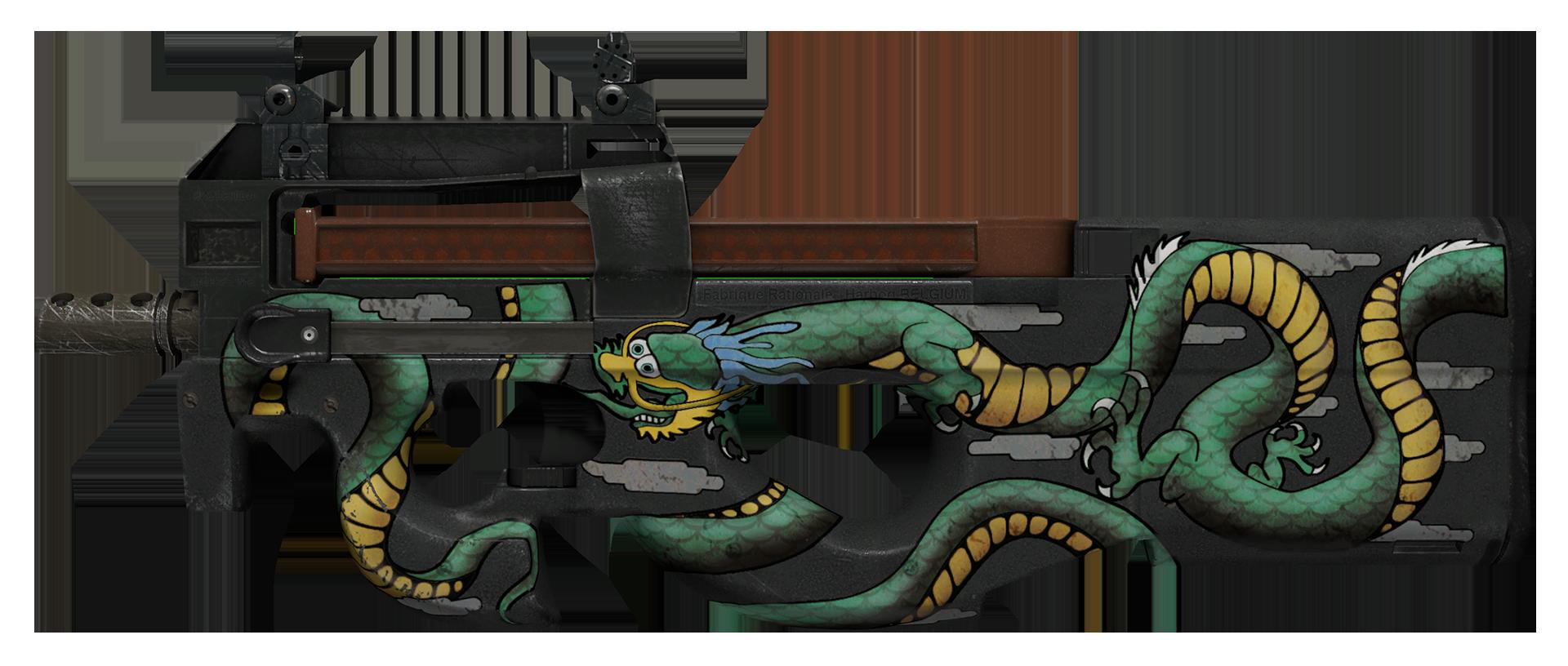 P90 Emerald Dragon Large Rendering