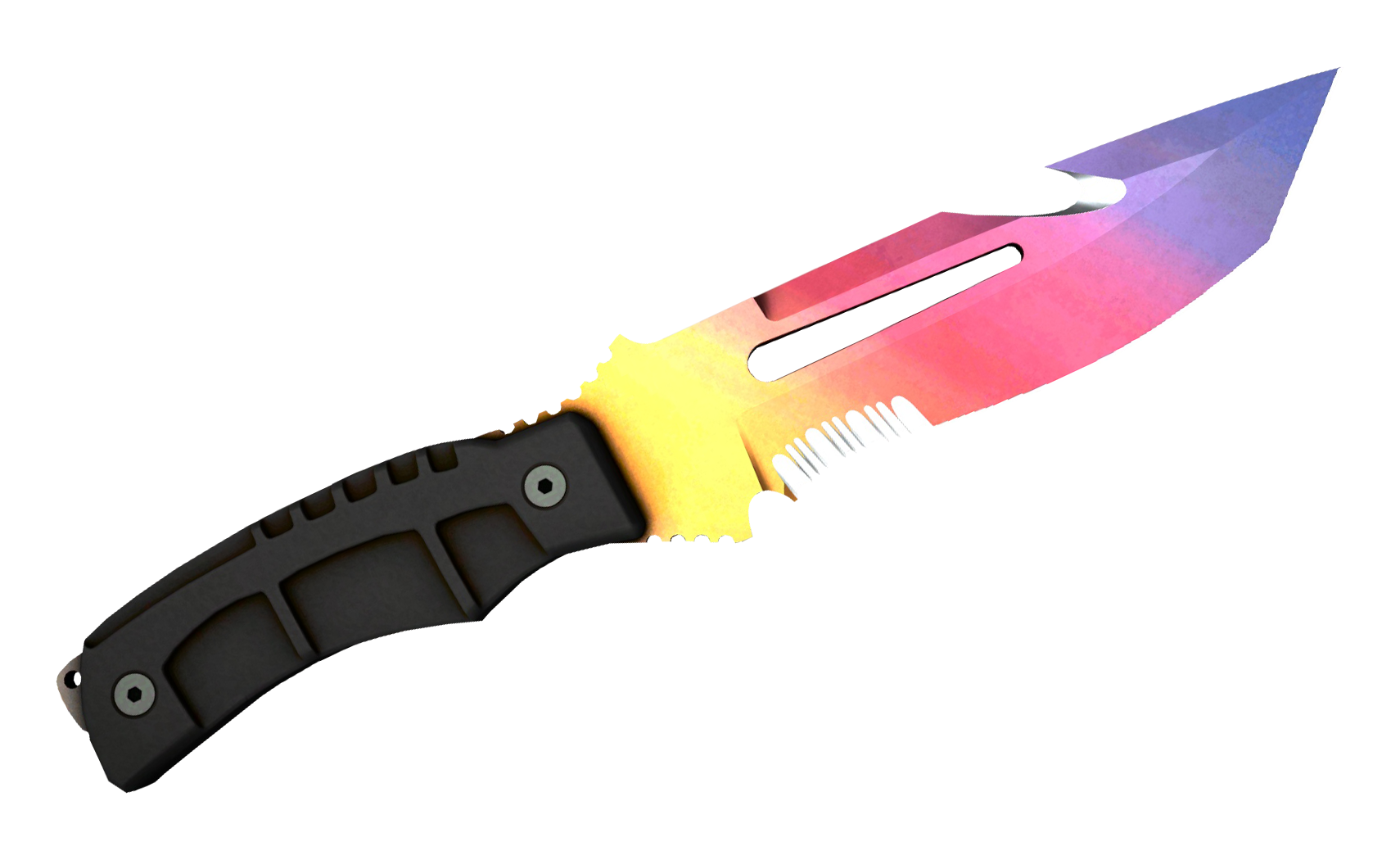 Survival Knife Fade Large Rendering
