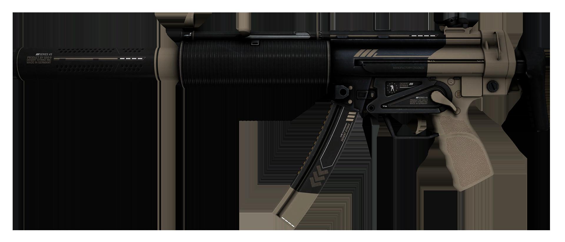 MP5-SD Desert Strike Large Rendering