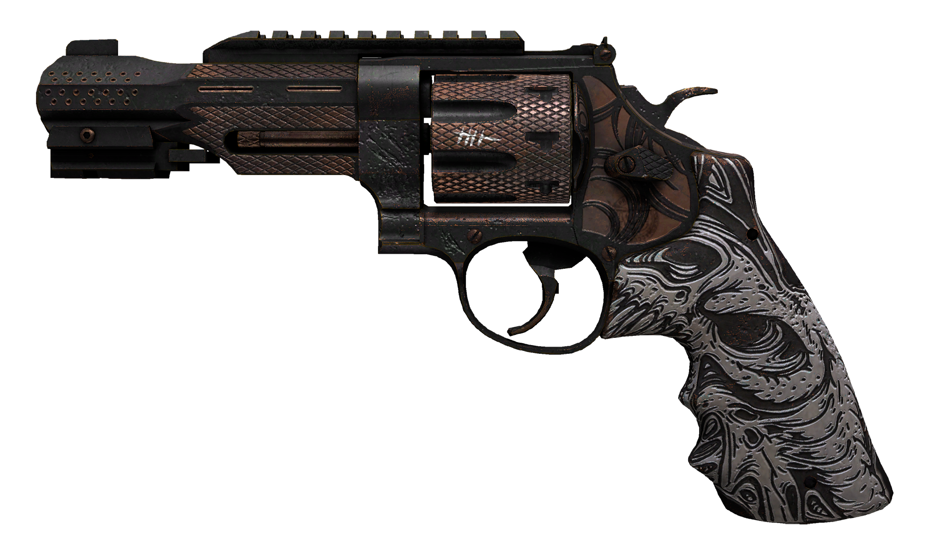 R8 Revolver Bone Forged Large Rendering