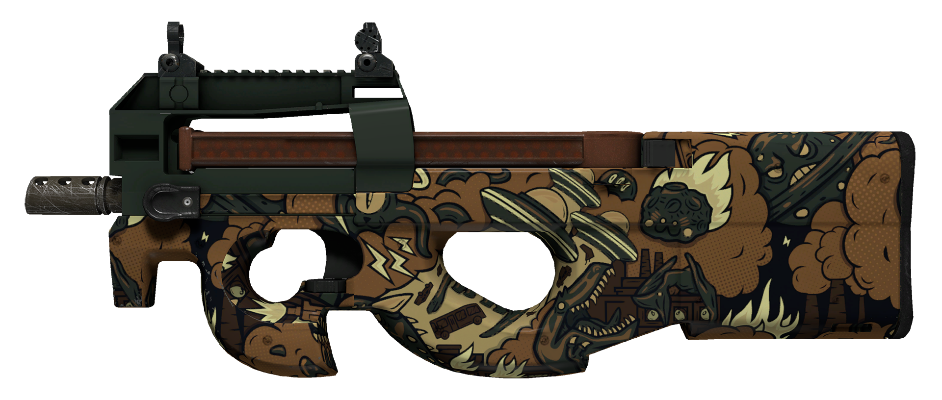 P90 Cocoa Rampage Large Rendering