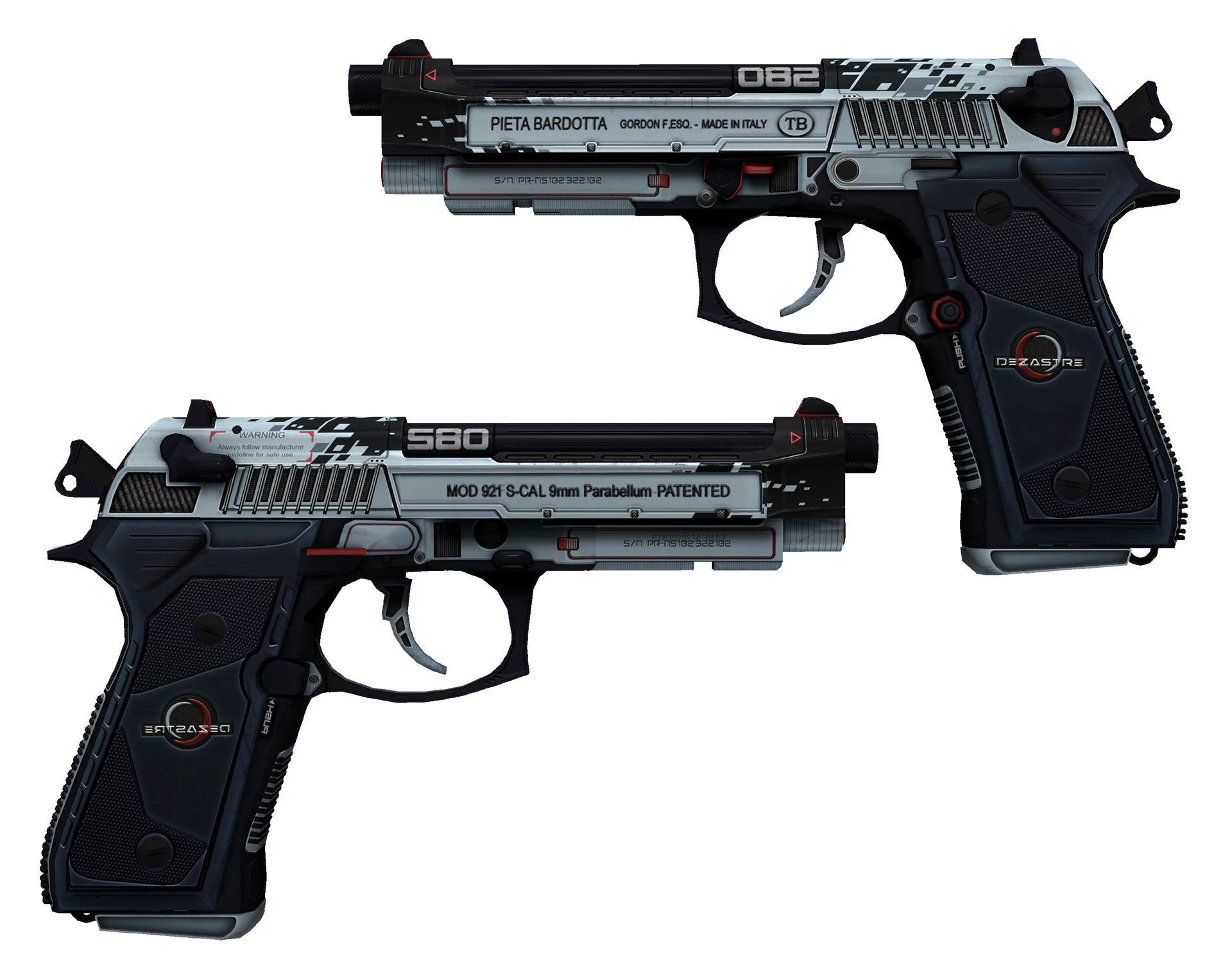 Dual Berettas Dezastre Large Rendering