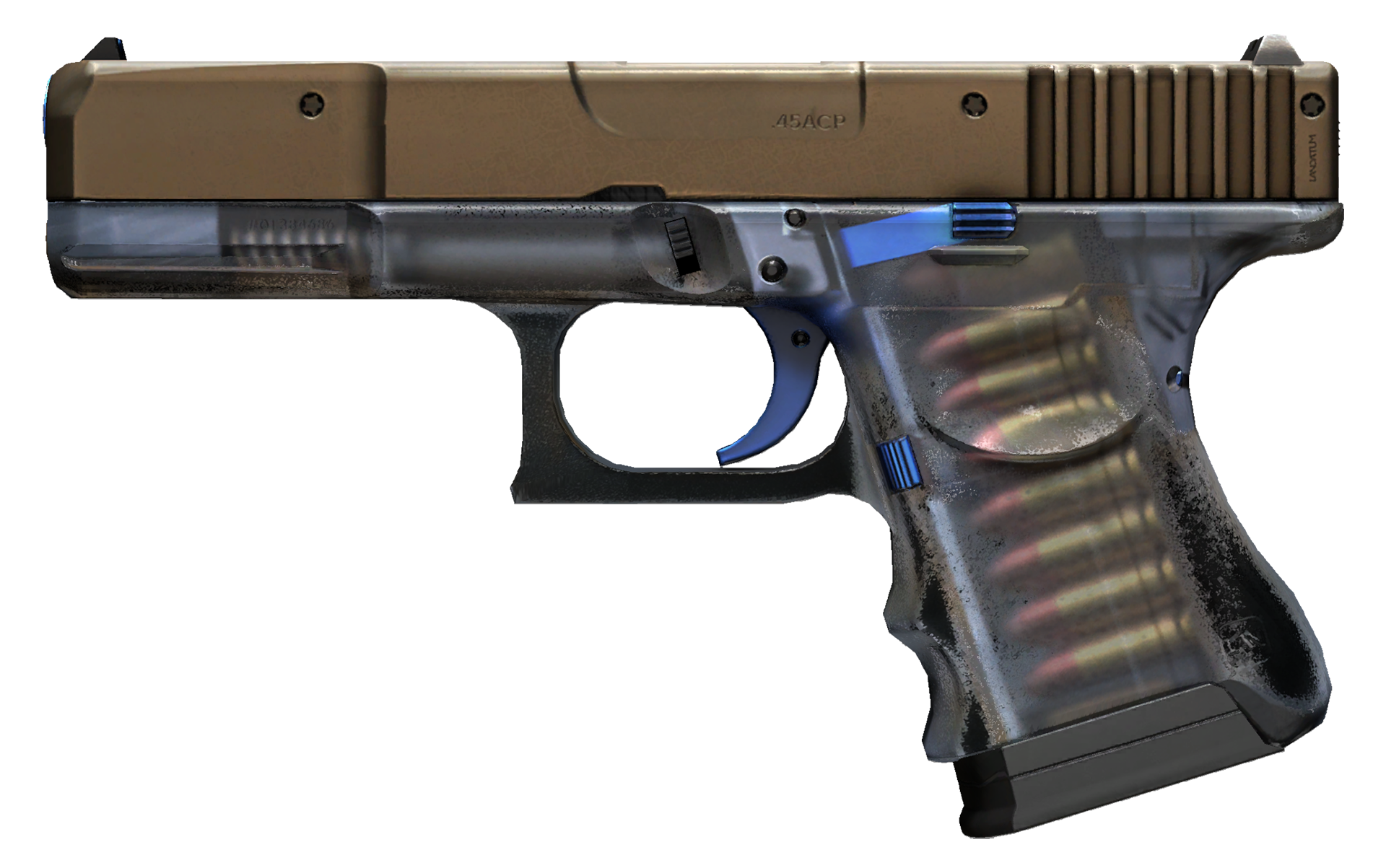 Glock-18 Clear Polymer Large Rendering