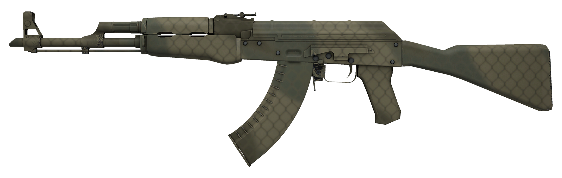 AK-47 Safari Mesh Large Rendering