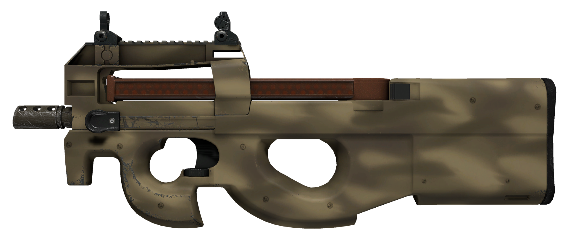 P90 Sand Spray Large Rendering