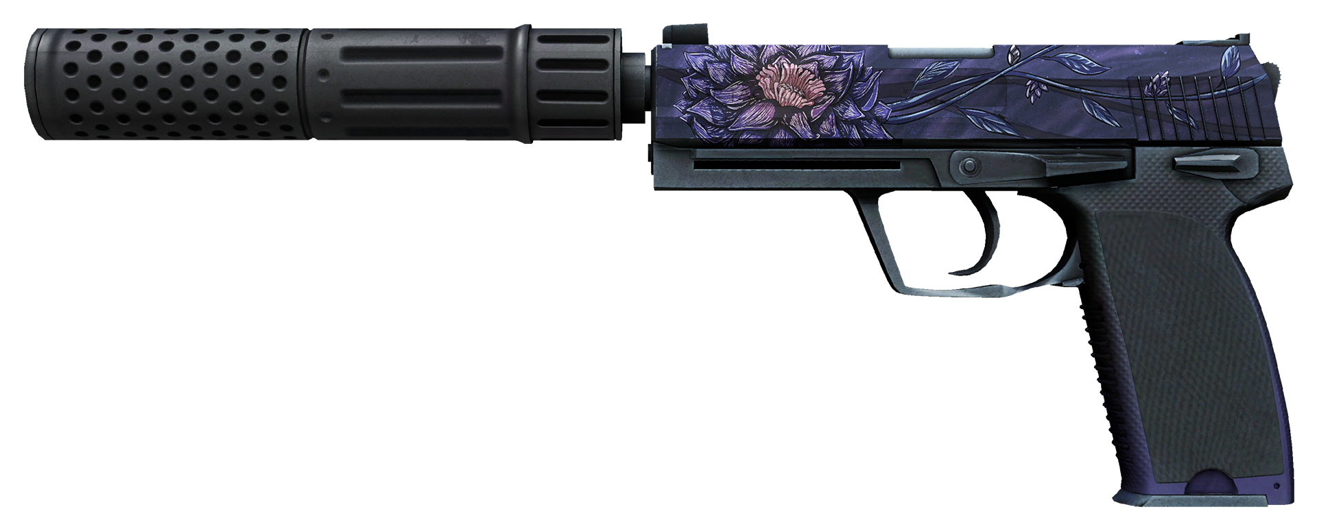 USP-S Black Lotus Large Rendering
