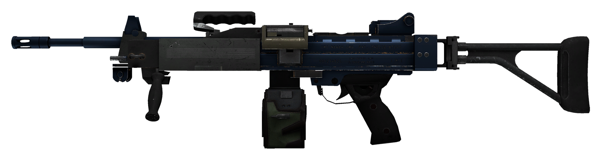 Negev Anodized Navy Large Rendering