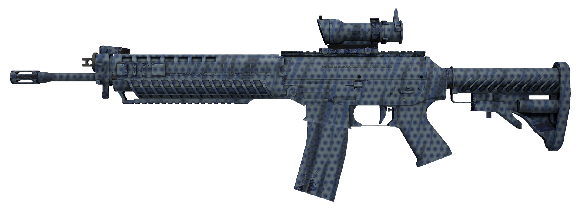 SG 553 Waves Perforated Large Rendering