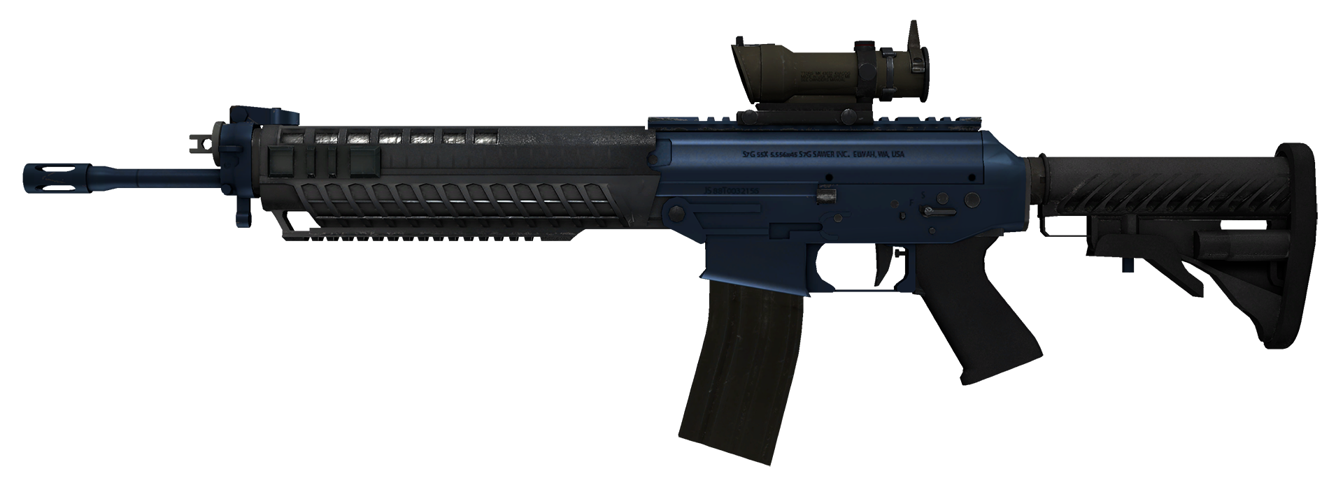 SG 553 Anodized Navy Large Rendering