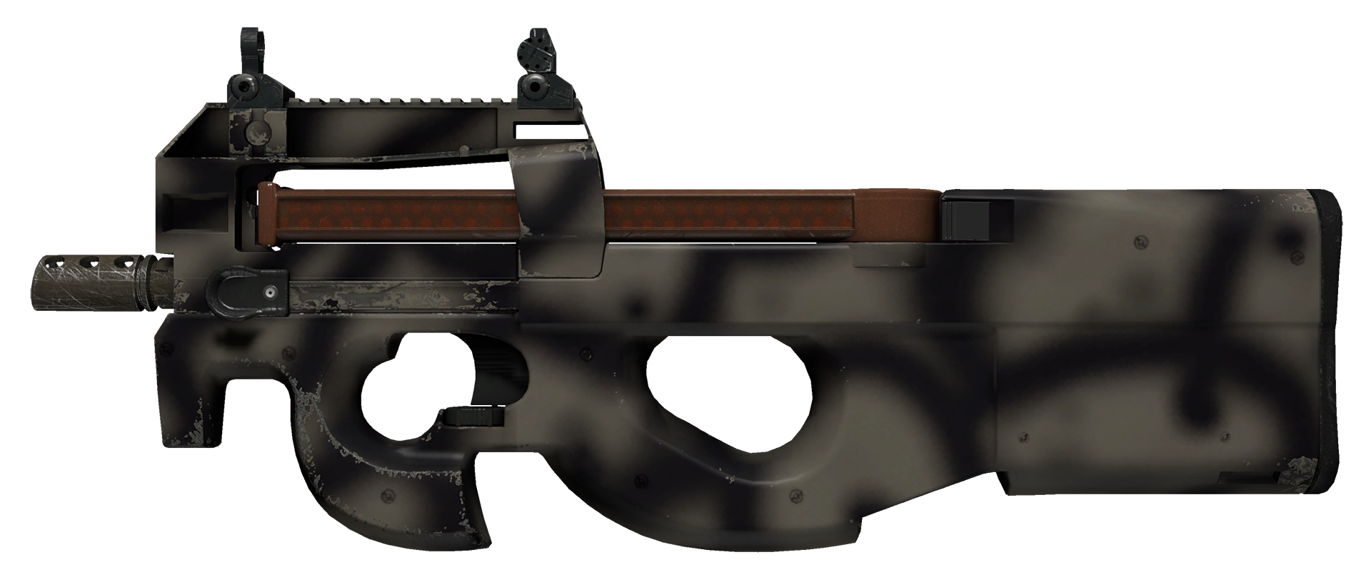 P90 Scorched Large Rendering