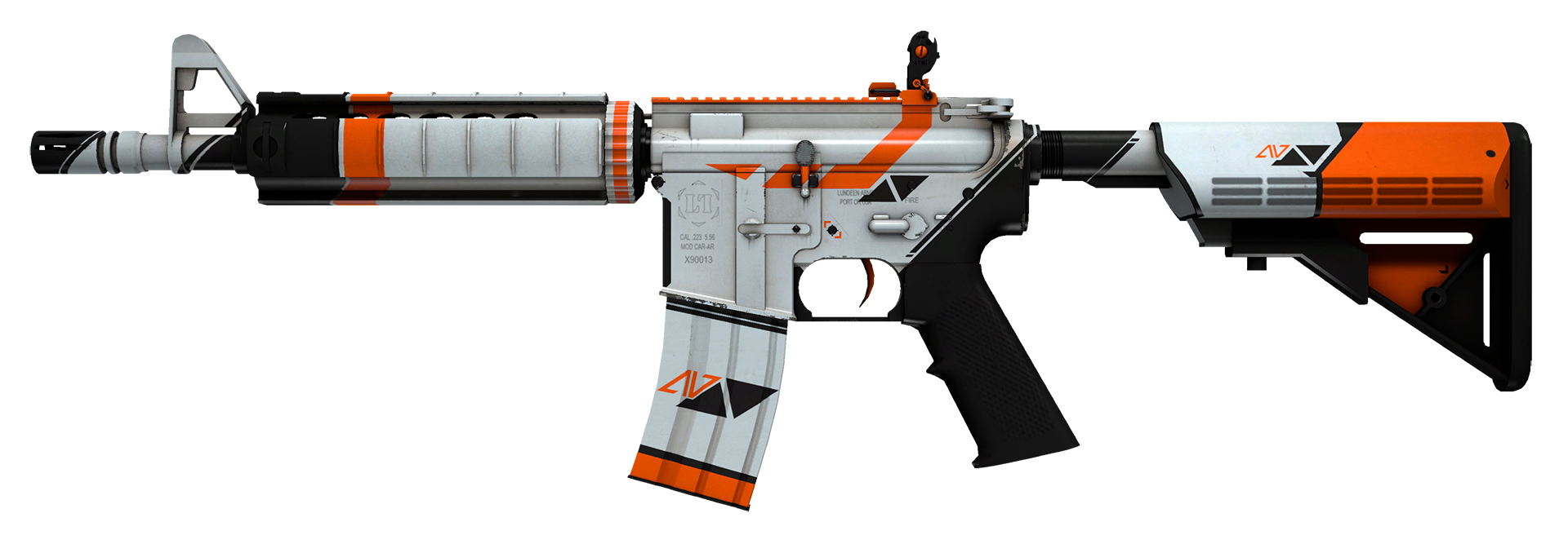 M4A4 Asiimov Large Rendering