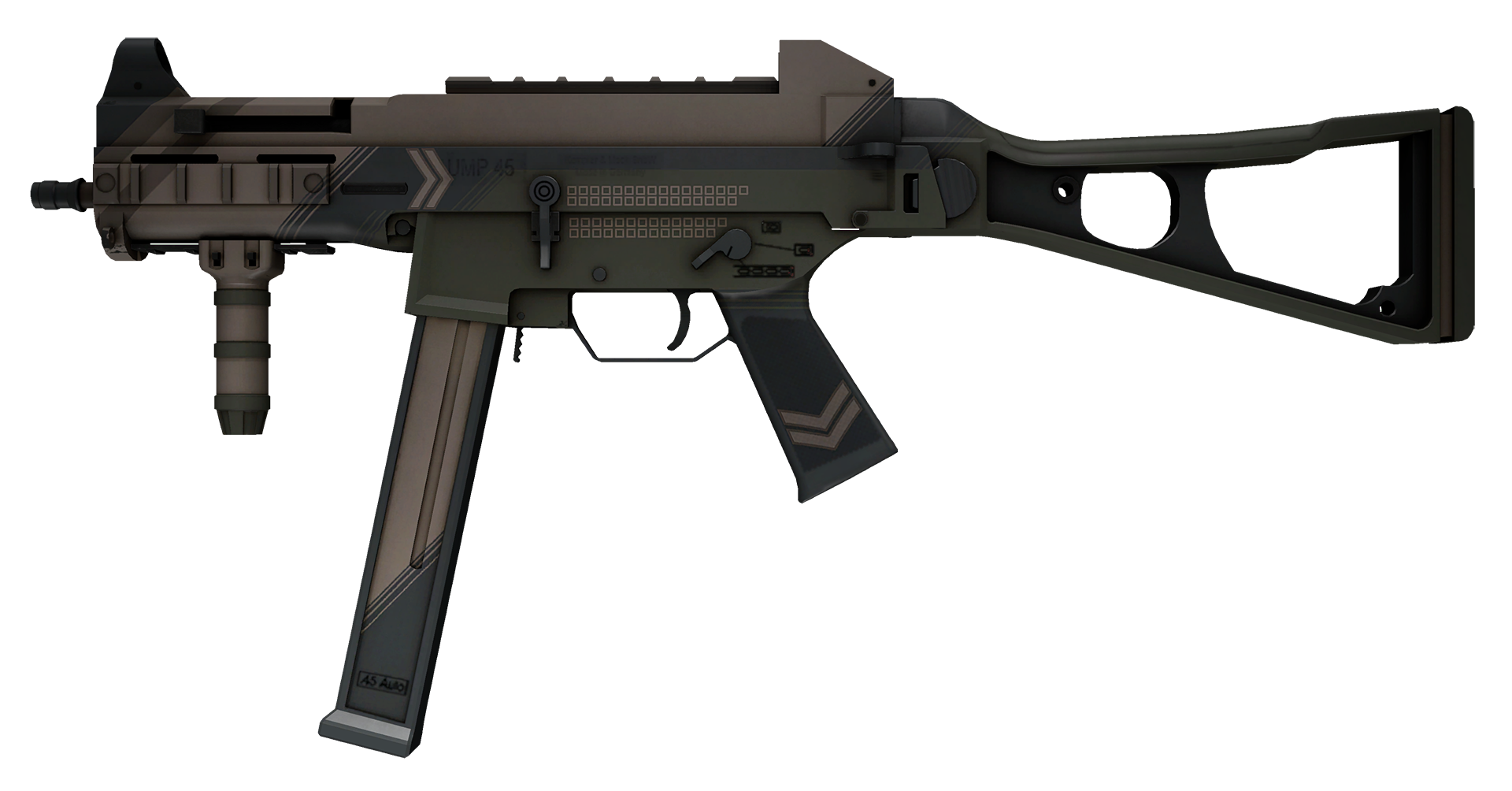 UMP-45 Corporal Large Rendering