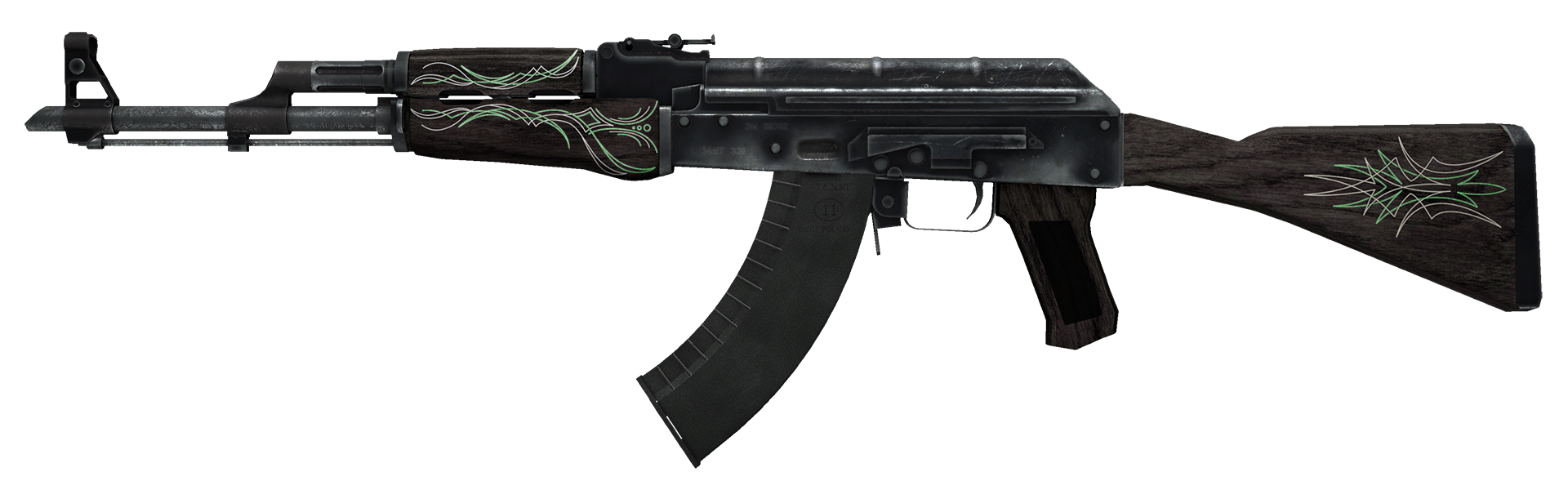 AK-47 Emerald Pinstripe Large Rendering