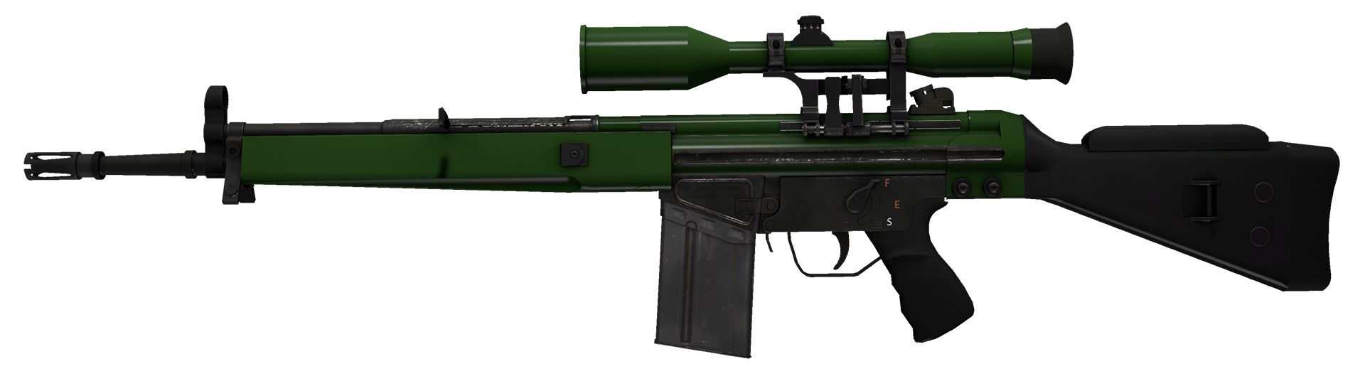 G3SG1 Green Apple Large Rendering