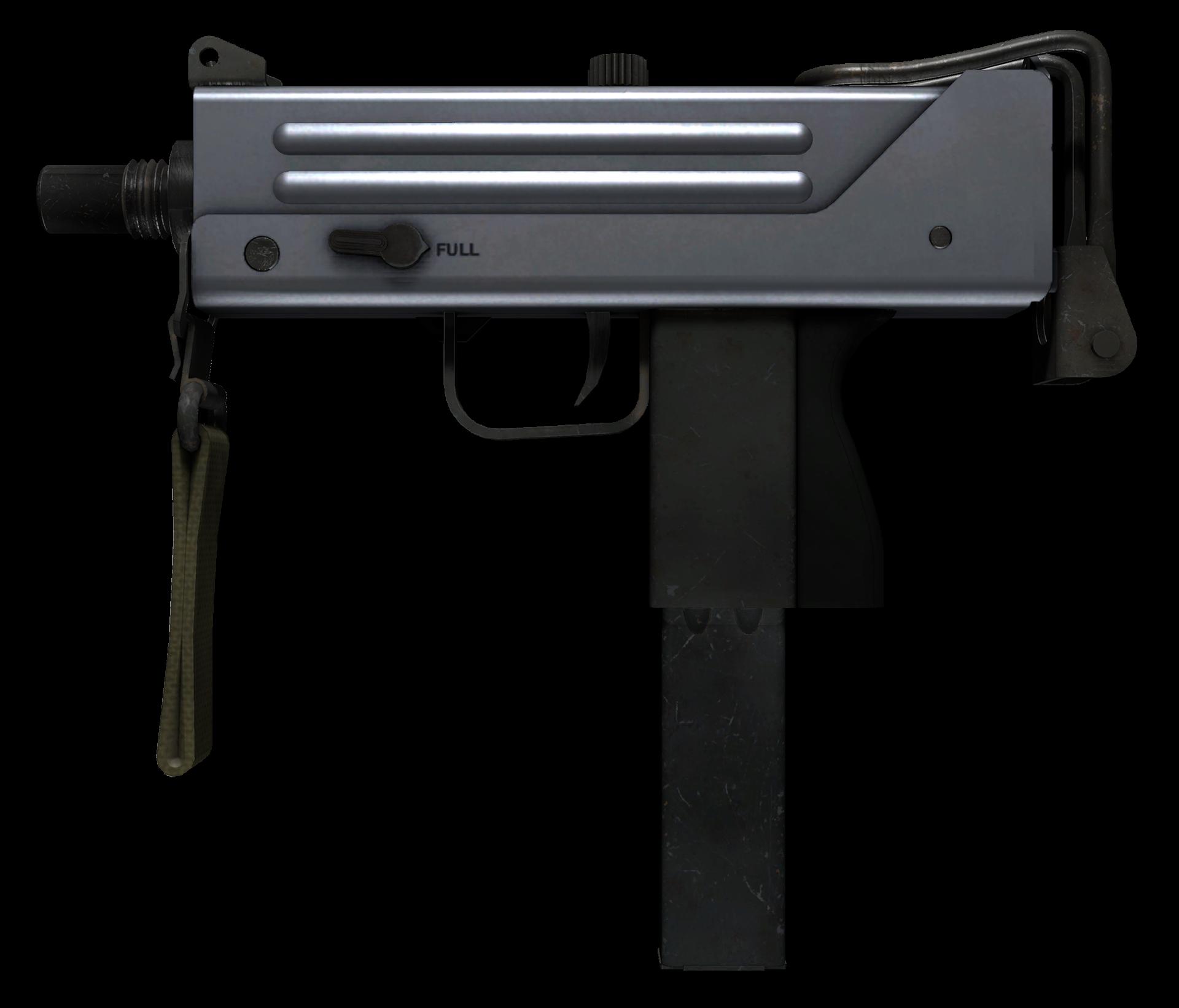 MAC-10 Silver Large Rendering
