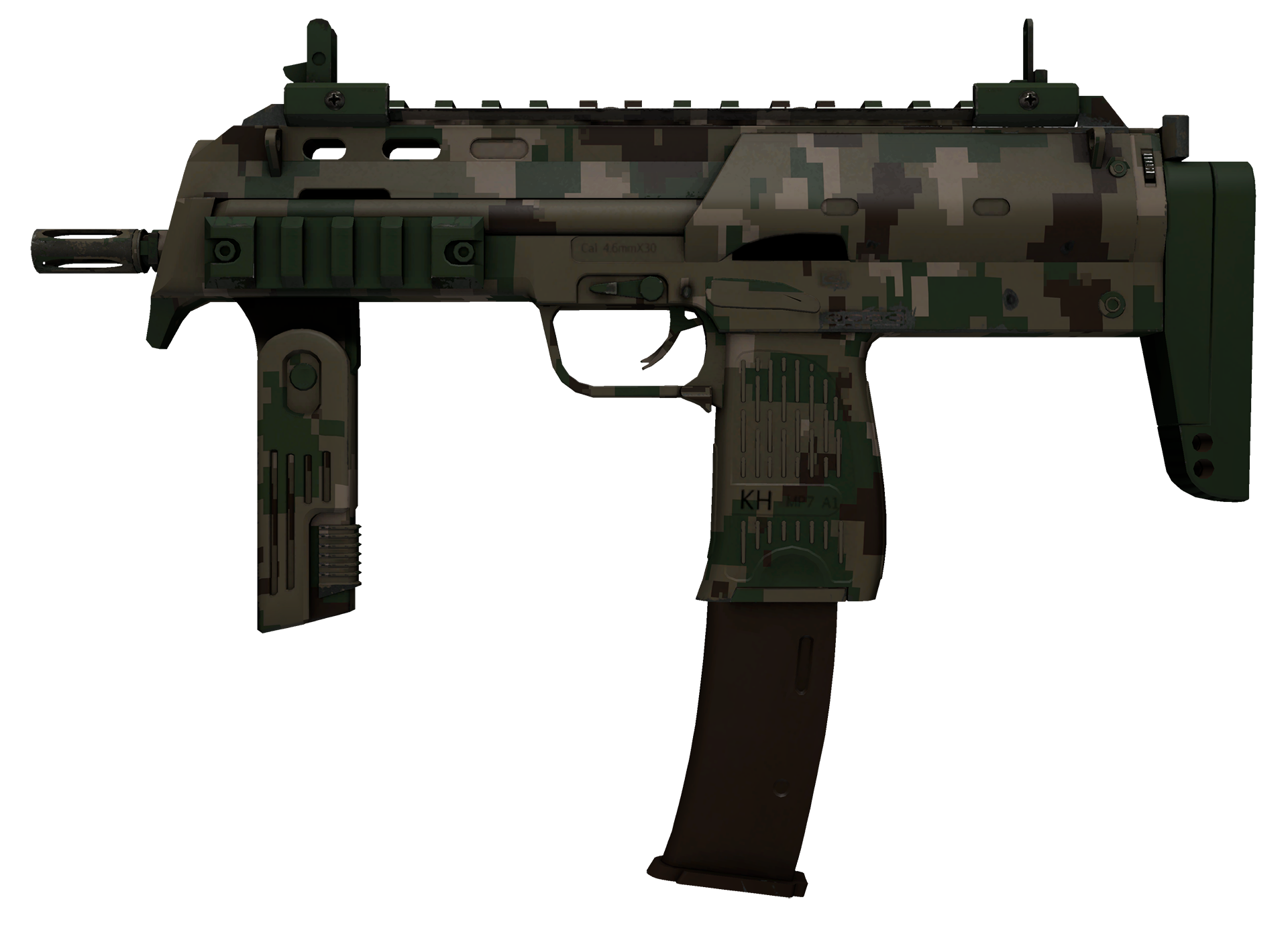 MP7 Forest DDPAT Large Rendering