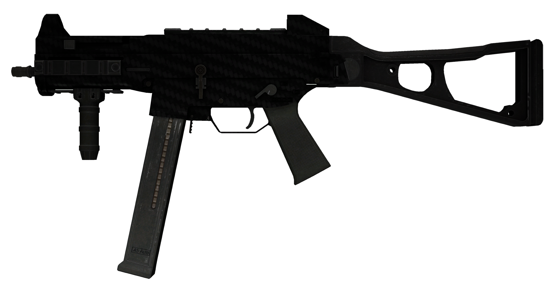 UMP-45 Carbon Fiber Large Rendering