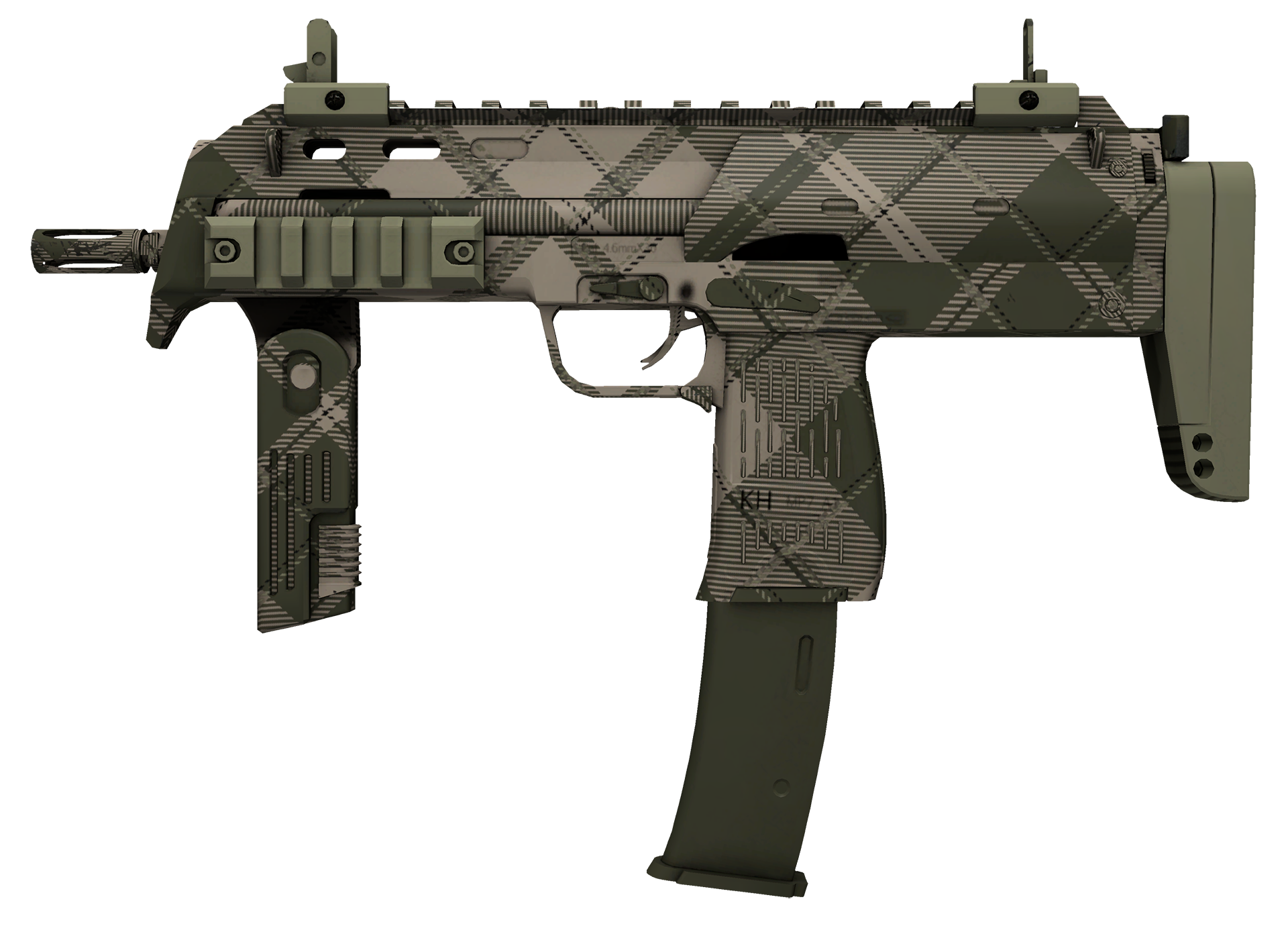 MP7 Olive Plaid Large Rendering