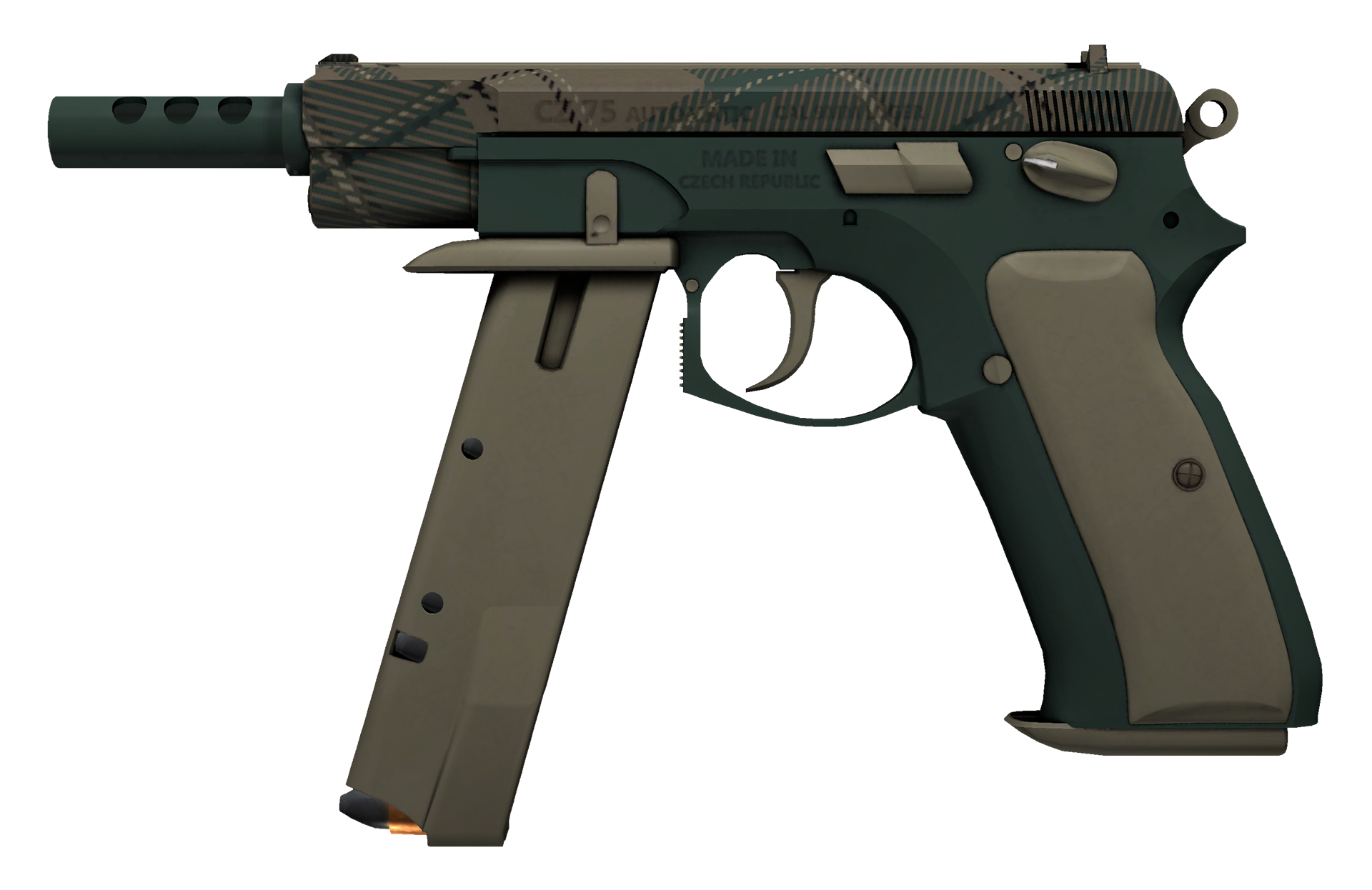 CZ75-Auto Green Plaid Large Rendering