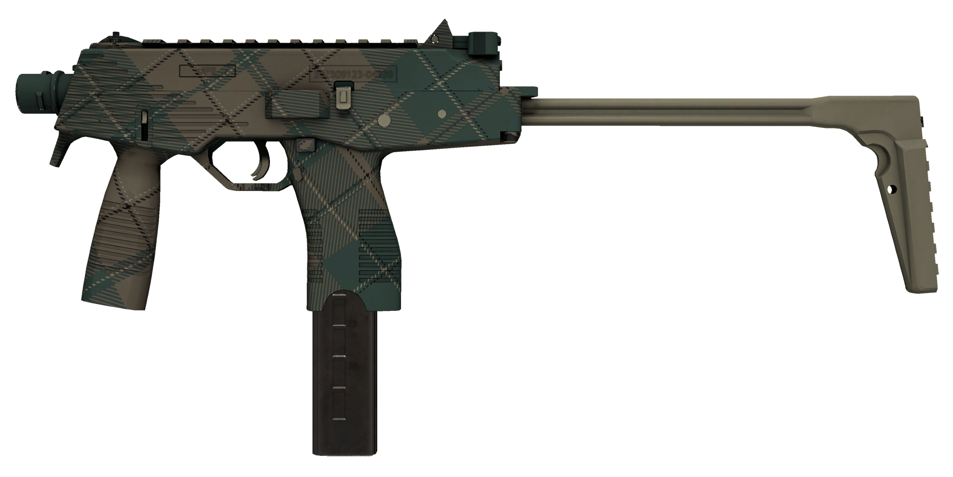 MP9 Green Plaid Large Rendering
