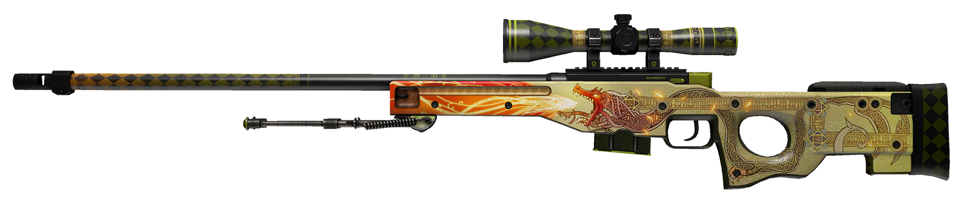 AWP Dragon Lore Large Rendering