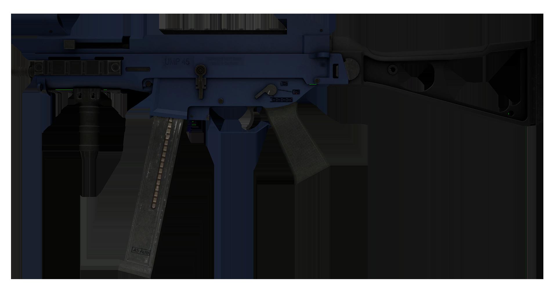 UMP-45 Indigo Large Rendering