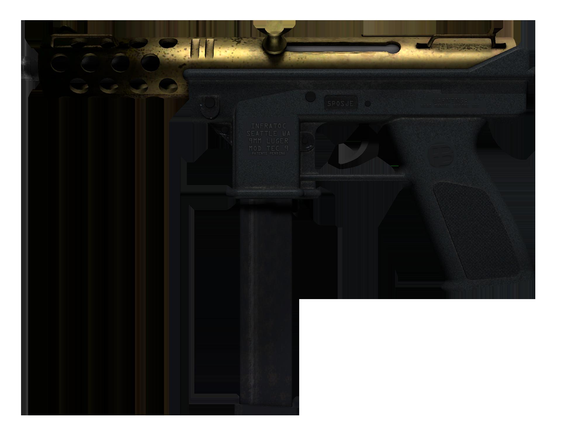 Tec-9 Brass Large Rendering