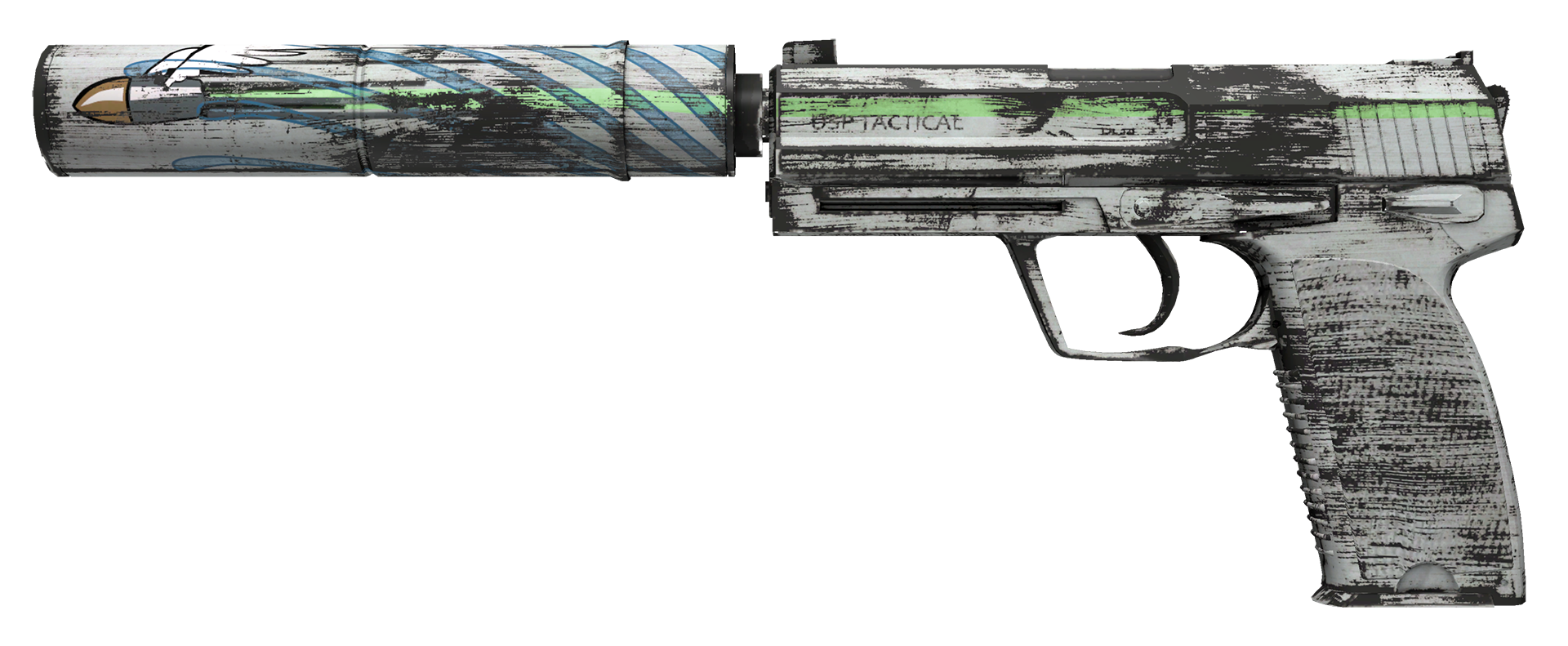 USP-S Road Rash Large Rendering