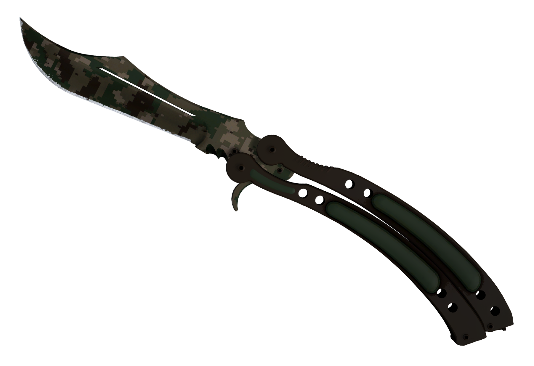 Butterfly Knife Forest DDPAT Large Rendering