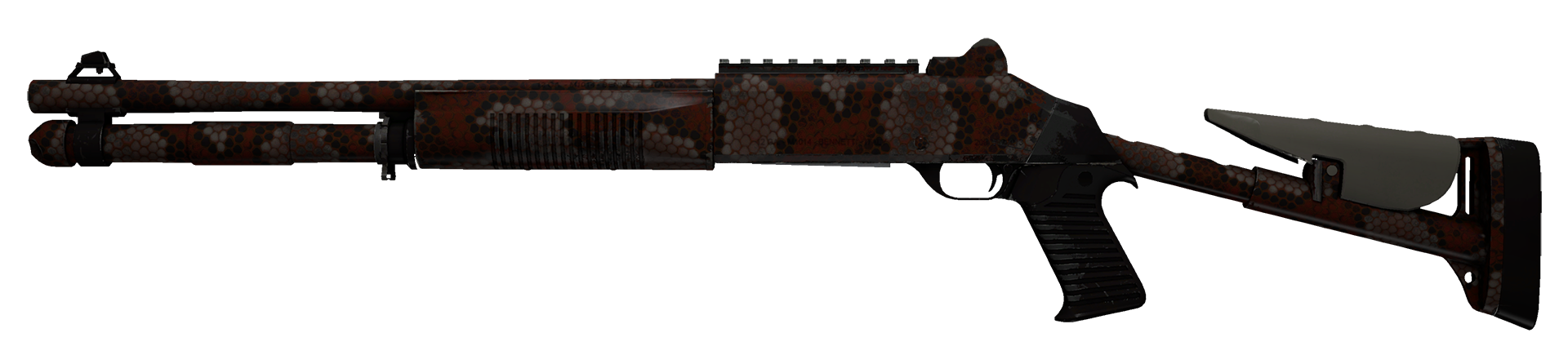 XM1014 Red Python Large Rendering