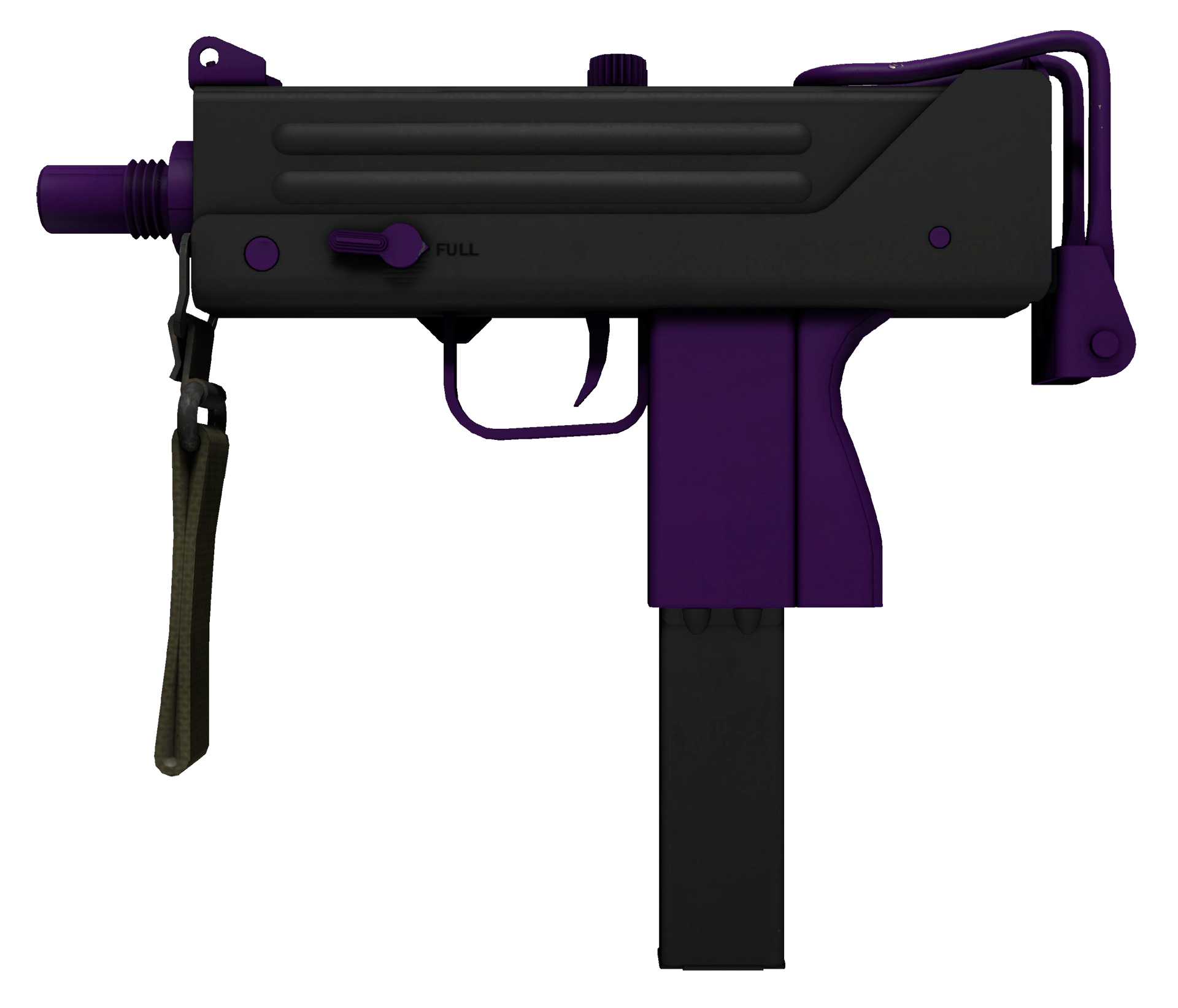 MAC-10 Ultraviolet Large Rendering