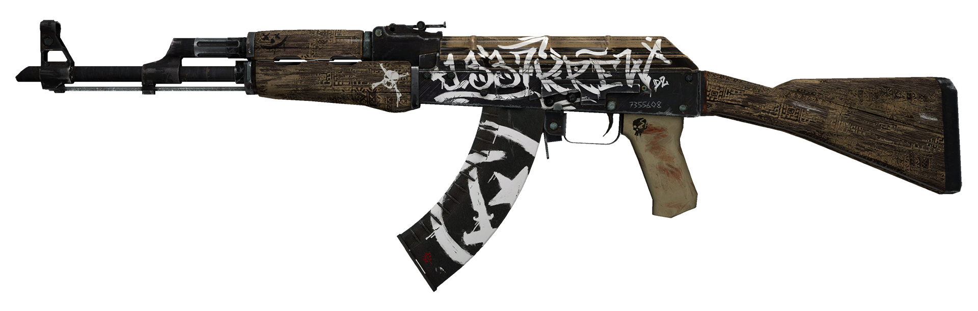 AK-47 Wasteland Rebel Large Rendering