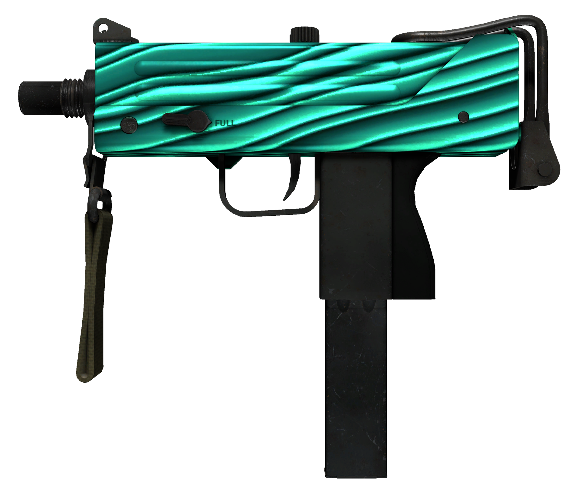 MAC-10 Malachite Large Rendering