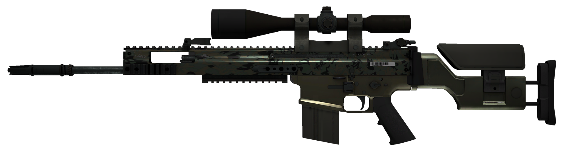 SCAR-20 Army Sheen Large Rendering