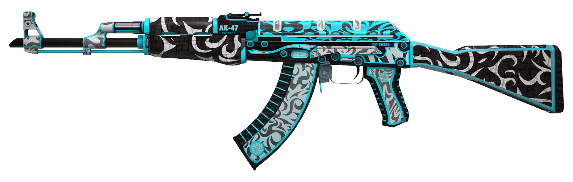 AK-47 Frontside Misty Large Rendering