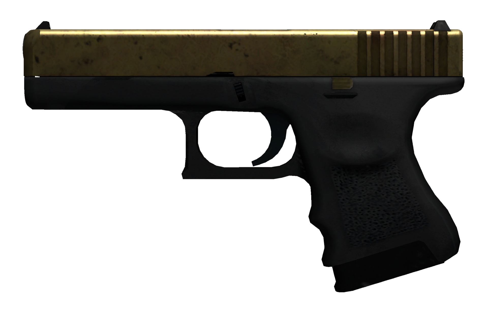 Glock-18 Brass Large Rendering
