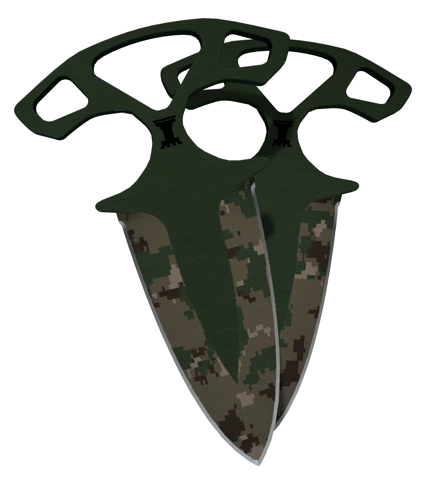 Shadow Daggers Forest DDPAT Large Rendering
